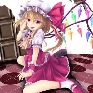 Rating: Safe Score: 18 Tags: aliasing flandre_scarlet taketiyi touhou wings User: gnarf1975
