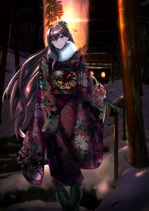 Rating: Safe Score: 33 Tags: fate/grand_order kimono kisaragi_chiyuki scathach_(fate/grand_order) User: Saturn_V