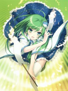 Rating: Safe Score: 70 Tags: an2a kochiya_sanae miko thighhighs touhou wind_mail User: yong