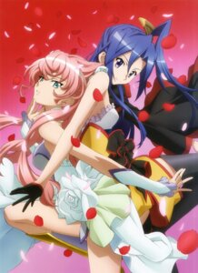 Rating: Safe Score: 27 Tags: dress kazanari_tsubasa maria_cadenzavuna_eve senki_zesshou_symphogear thighhighs User: sjl19981006
