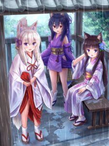 Rating: Questionable Score: 17 Tags: animal_ears iroha_(iroha_matsurika) japanese_clothes kimono kitsune miko nekomimi wet wet_clothes User: ryoga828