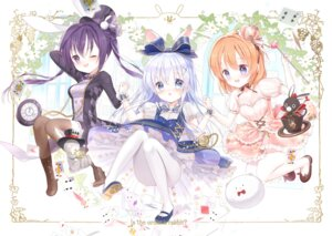 Rating: Safe Score: 40 Tags: alice_in_wonderland animal_ears anko_(gochuumon_wa_usagi_desuka?) bunny_ears cleavage dress gochuumon_wa_usagi_desu_ka? heels hoto_cocoa kafuu_chino pantyhose siloteddy tedeza_rize thighhighs tippy_(gochuumon_wa_usagi_desu_ka?) wild_geese User: Mr_GT