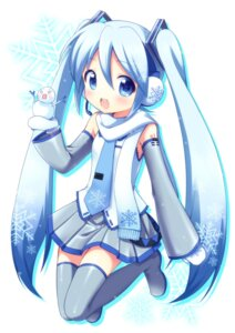 Rating: Safe Score: 53 Tags: hatsune_miku mani thighhighs vocaloid yuki_miku User: Nekotsúh