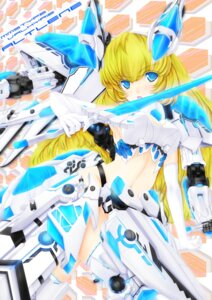 Rating: Safe Score: 14 Tags: altlene armor busou_shinki mecha_musume r0g0b0 sword thighhighs User: Kaixa