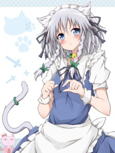 Rating: Safe Score: 22 Tags: animal_ears izayoi_sakuya karamone-ze maid nekomimi tail touhou User: Radioactive