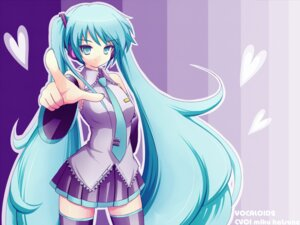 Rating: Safe Score: 14 Tags: hatsune_miku takunama thighhighs vocaloid wallpaper User: charunetra