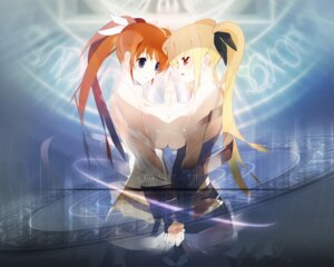 Rating: Questionable Score: 22 Tags: fate_testarossa mahou_shoujo_lyrical_nanoha mahou_shoujo_lyrical_nanoha_strikers sayappa symmetrical_docking takamachi_nanoha topless wallpaper yuri User: Radioactive