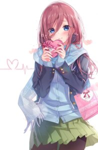 Rating: Safe Score: 49 Tags: 5-toubun_no_hanayome nakano_miku pantyhose sakura_honoka_(srhk0623) seifuku sweater valentine User: fairyren