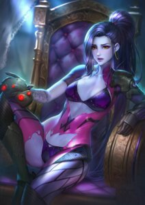 Rating: Questionable Score: 33 Tags: bodysuit bra nudtawut_thongmai overwatch pantsu tattoo torn_clothes widowmaker User: BattlequeenYume