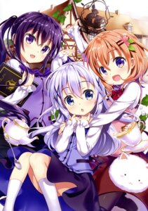 Rating: Safe Score: 35 Tags: fujima_takuya gochuumon_wa_usagi_desu_ka? hoto_cocoa kafuu_chino possible_duplicate tedeza_rize tippy_(gochuumon_wa_usagi_desu_ka?) waitress User: drop