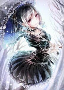 Rating: Safe Score: 39 Tags: dress kanzaki_ranko kazuko_(pixiv13581460) pantyhose the_idolm@ster the_idolm@ster_cinderella_girls umbrella User: saemonnokami