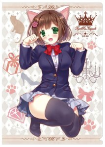 Rating: Safe Score: 41 Tags: animal_ears maekawa_miku nekomimi ryuuga_shou seifuku the_idolm@ster the_idolm@ster_cinderella_girls thighhighs User: fairyren