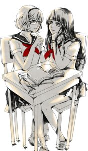 Rating: Safe Score: 9 Tags: jeya megane seifuku yuri User: blooregardo
