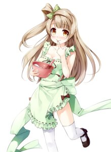 Rating: Questionable Score: 47 Tags: heels love_live! minami_kotori miyase_mahiro naked_apron thighhighs User: fairyren