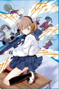Rating: Safe Score: 11 Tags: fuyuno_haruaki gun seifuku User: blooregardo