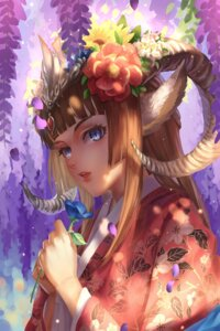 Rating: Safe Score: 26 Tags: animal_ears horns kimono kirino_(codec007) User: Mr_GT