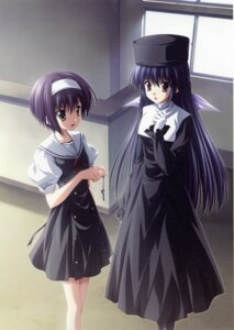 Rating: Safe Score: 17 Tags: amamiya_yuuko ef_~a_fairytale_of_the_two~ nanao_naru seifuku shindou_kei User: fireattack