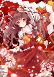 Rating: Safe Score: 24 Tags: hakurei_reimu sakura_ran touhou User: ddns001