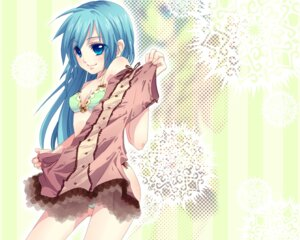 Rating: Safe Score: 29 Tags: bra hatsune_miku pantsu tsubaki_ki vocaloid wallpaper User: charunetra