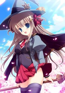 Rating: Questionable Score: 53 Tags: mikeou pink_chuchu seifuku thighhighs witch User: fireattack