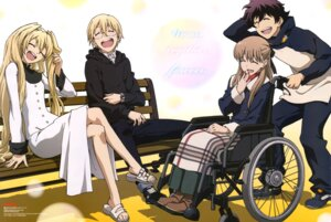 Rating: Questionable Score: 36 Tags: dress kekkai_sensen leonardo_watch mary_macbeth megane murai_kouji white_(kekkai_sensen) william_macbeth User: drop