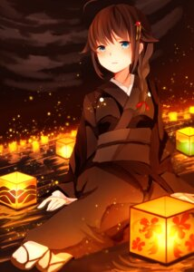 Rating: Safe Score: 29 Tags: kantai_collection kimono kumahara shigure_(kancolle) User: charunetra