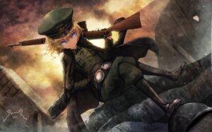 Rating: Safe Score: 30 Tags: gun namacotan tanya_degurechaff uniform youjo_senki User: BattlequeenYume