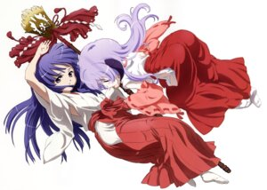 Rating: Safe Score: 20 Tags: furude_rika hanyuu higurashi_no_naku_koro_ni horns miko sakai_kyuuta User: charly_rozen