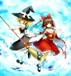Rating: Safe Score: 24 Tags: hakurei_reimu kirisame_marisa ria touhou witch User: Mr_GT