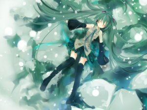 Rating: Safe Score: 18 Tags: bear hatsune_miku thighhighs vocaloid User: fireattack