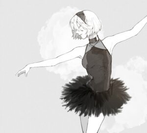 Rating: Safe Score: 15 Tags: dress monochrome nier_automata pullssack yorha_no.2_type_b User: charunetra