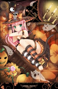 Rating: Questionable Score: 116 Tags: animal_ears cleavage duji_amo garter halloween neko nekomimi tail witch User: 椎名深夏