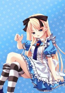 Rating: Safe Score: 36 Tags: alice alice_in_wonderland miyama-zero thighhighs User: midzki