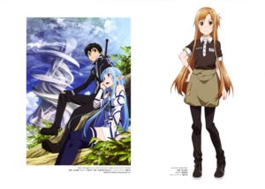 Rating: Safe Score: 35 Tags: adachi_shingo asuna_(sword_art_online) kirito nishiguchi_tomoya pointy_ears sword sword_art_online thighhighs User: drop