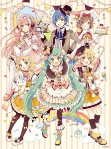 Rating: Safe Score: 21 Tags: dress hatsune_miku heels kagamine_len kagamine_rin kaito lolita_fashion megurine_luka pantyhose sakura_oriko umbrella vocaloid User: Spidey