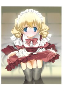 Rating: Questionable Score: 21 Tags: kyougetsutei miyashita_miki paper_texture sake stockings thighhighs User: crim