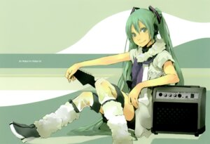 Rating: Safe Score: 14 Tags: chroma_of_wall hatsune_miku thighhighs vocaloid yoshito User: midzki