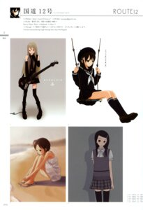 Rating: Safe Score: 9 Tags: guitar kokudou_juunigou seifuku thighhighs User: blooregardo