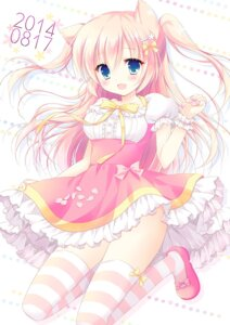 Rating: Safe Score: 54 Tags: animal_ears hasekura_chiaki nekomimi thighhighs User: fairyren