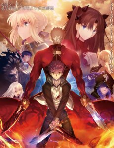 Rating: Safe Score: 60 Tags: archer berserker caster emiya_shirou fate/stay_night fate/stay_night_unlimited_blade_works gilgamesh_(fsn) saber sword tagme toosaka_rin weapon User: h71337