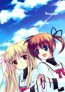 Rating: Safe Score: 16 Tags: fate_testarossa fukuya mahou_shoujo_lyrical_nanoha takamachi_nanoha yuri User: Radioactive