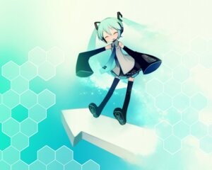 Rating: Safe Score: 11 Tags: hatsune_miku putidevil thighhighs vocaloid wallpaper User: Sedeto