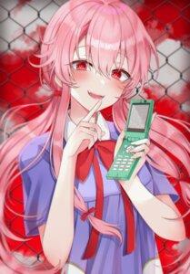 Rating: Safe Score: 38 Tags: 49_(yonkyuu) artist_revision gasai_yuno mirai_nikki seifuku User: BattlequeenYume