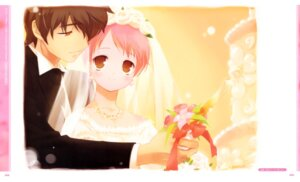 Rating: Safe Score: 15 Tags: akino_momiji cuffs dress gayarou kiriyama_keigo sakura_musubi wedding_dress User: Kalafina
