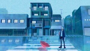 Rating: Safe Score: 28 Tags: hatsune_miku heels landscape mimengfeixue pantyhose umbrella vocaloid User: charunetra