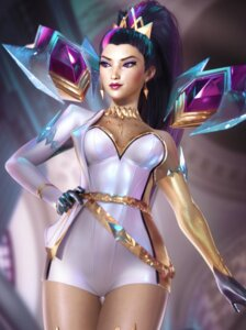 Rating: Questionable Score: 18 Tags: kai'sa league_of_legends no_bra see_through sevenbees User: Darkthought75
