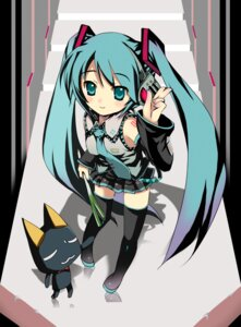 Rating: Safe Score: 39 Tags: astral_trip hatsune_miku thighhighs tomusooya vocaloid User: fireattack