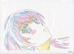 Rating: Safe Score: 7 Tags: dual_(garakowa) glass_no_hana_to_kowasu_sekai raw_scan sketch User: hirotn