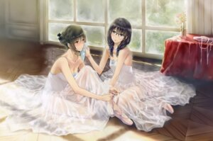Rating: Safe Score: 48 Tags: cleavage dress flowers hanabishi_rikka innocent_grey leotard megane see_through shirahane_suou sugina_miki User: Hatsukoi