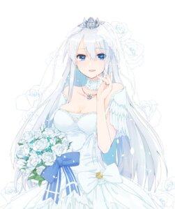 Rating: Safe Score: 52 Tags: azur_lane cleavage dress enterprise_(azur_lane) shichijou_natori wedding_dress User: Mr_GT